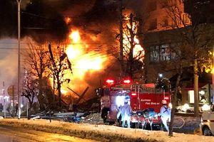 Nhật Bản: Nổ lớn làm sập nhà hàng, 42 người bị thương
