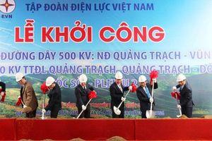 Khởi công đường dây điện 500KV từ Vũng Áng đến Plây Cu