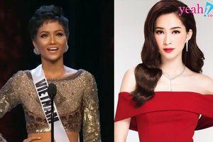 Phản ứng của Hoa hậu Đặng Thu Thảo trước việc H'Hen Niê mong khán giả hãy cảm ơn phiên dịch viên tại Miss Universe 2018