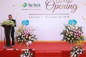 Re-Teck mở rộng hoạt động kinh doanh quốc tế, hiện diện tại Hải Phòng