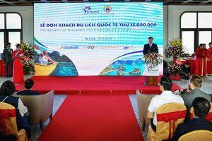 Bộ trưởng Nguyễn Ngọc Thiện phát biểu tại lễ đón du khách