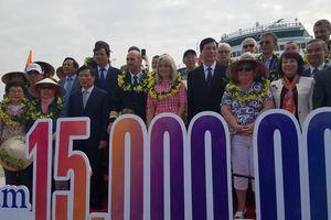 Quảng Ninh đón khách quốc tế thứ 15 triệu năm 2018