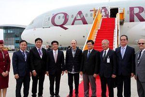 Hãng hàng không Qatar lần đầu hạ cánh tại Đà Nẵng