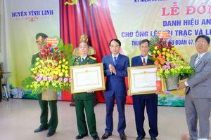 Trao tặng danh hiệu Anh hùng lực lượng vũ trang cho thương binh Lê Hữu Trạc
