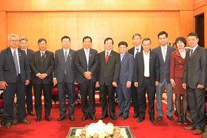 Lãnh đạo Ban Tổ chức Trung ương tiếp Đoàn đại biểu Đảng Đoàn kết và Phát triển Liên bang My-an-ma