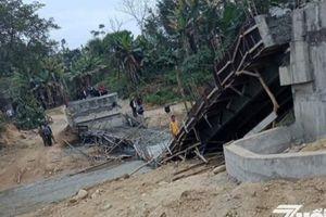 Yên Bái: Cầu từ thiện dân sinh Gốc Nụ đang thi công thì bị gãy