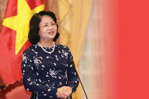 Phó CTN Đặng Thị Ngọc Thịnh tiếp Chủ tịch Làng trẻ em SOS quốc tế