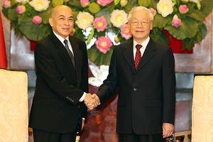 Tổng Bí thư, Chủ tịch nước Nguyễn Phú Trọng hội kiến Quốc vương Campuchia Sihamoni