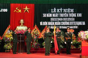 Kho J106 đón nhận Huân chương Bảo vệ Tổ quốc hạng Ba