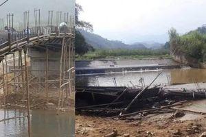 Thi công chưa đúng bản vẽ thiết kế, cầu gần 1 tỷ đang xây dựng bỗng đổ sập