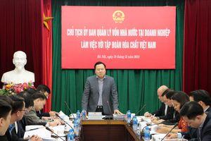 Chủ tịch Ủy ban Quản lý vốn Nhà nước tại doanh nghiệp Nguyễn Hoàng Anh làm việc với Vinachem