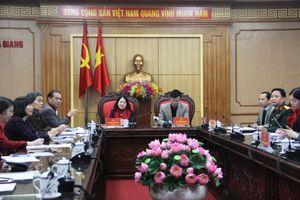 Hội Chữ thập đỏ Việt Nam làm việc với lãnh đạo tỉnh Hà Giang