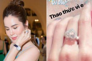 Hoa hậu Phương Lê đeo nhẫn kim cương giống Minh Hằng, có giá trị hàng chục tỷ đồng
