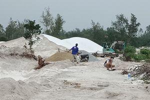 Quảng Nam: Làm đường nội đồng để khai thác cát có đúng Luật khoáng sản?
