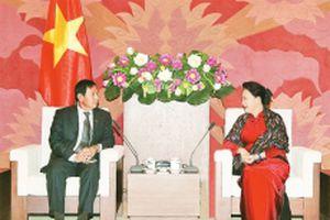 Chủ tịch Quốc hội Nguyễn Thị Kim Ngân tiếp Đoàn đại biểu Đảng Đoàn kết và Phát triển Liên bang Mi-an-ma