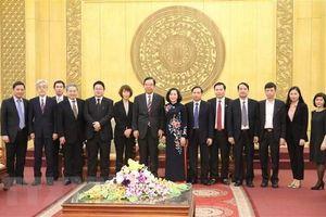Đoàn Đại biểu Đảng Cộng sản Nhật Bản thăm làm việc tại Ninh Bình