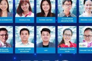 Tốp 10 startup tranh tài tại Giải thưởng Doanh nhân cộng đồng