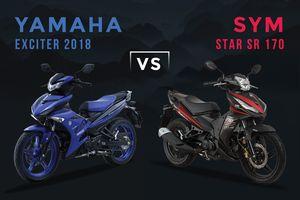 Động cơ 174,5 cc, SYM Star SR có mạnh hơn Yamaha Exciter?