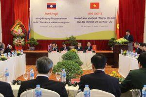 Trao đổi kinh nghiệm về công tác tôn giáo giữa các tỉnh biên giới Việt Nam-Lào