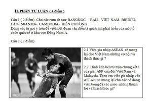 Khi Quang Hải, đội tuyển Việt Nam vào đề thi