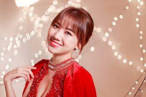Hari Won mừng đón Giáng sinh trong chương trình không có Trường Giang