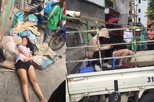 'Hot girl' đánh nhau ngất xỉu giữa đường Hà Nội