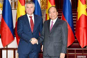 Thủ tướng tiếp Chủ tịch Duma quốc gia Nga