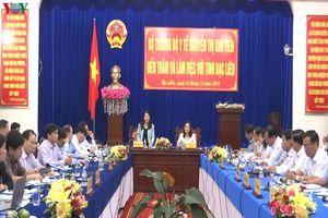 Bộ trưởng Bộ Y tế làm việc với lãnh đạo tỉnh Bạc Liêu