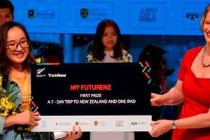 Cô gái xinh xắn giành giải Nhất cuộc thi My FutureNZ là ai?