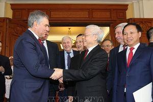 Tổng Bí thư, Chủ tịch nước Nguyễn Phú Trọng tiếp Chủ tịch Duma quốc gia Nga