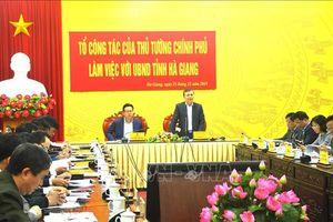 Tổ công tác của Thủ tướng Chính phủ làm việc với UBND tỉnh Hà Giang