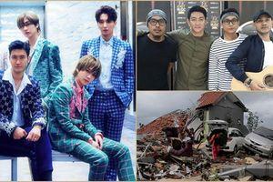 Các thành viên Super Junior chia buồn, cầu nguyện cho gần 400 người chết do thảm họa sóng thần tại Indonesia