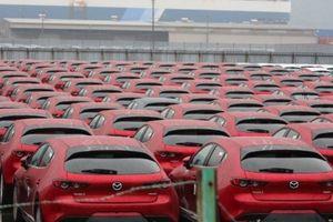 Vừa ra mắt, hàng trăm xe Mazda3 2019 đã tấp nập ở cảng chuẩn bị xuất khẩu