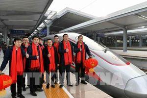 Trung Quốc vận hành tuyến đường sắt cao tốc phủ sóng mạng 5G