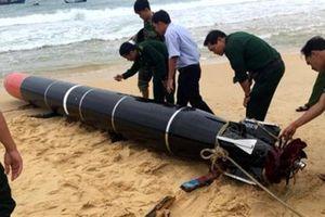 Ngư lôi dạt bờ biển Phú Yên không phải loại chiến đấu