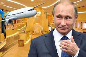 Cậu bé mắc bệnh hiểm nghèo khám phá chuyên cơ dát vàng của Tổng thống Putin