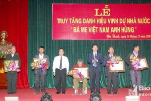 Nghệ An: Tổ chức Lễ truy tặng Danh hiệu 'Bà mẹ Việt Nam anh hùng'