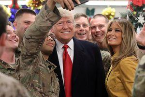 Tổng thống Mỹ Donald Trump thăm căn cứ không quân Al Asad, Iraq