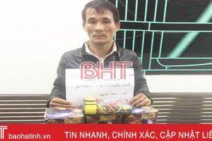 Mua pháo từ Quảng Bình về chưa kịp bán thì bị bắt !