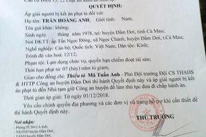 Cà Mau: Nguyên Phó chủ tịch xã bị áp giải từ bệnh viện về quê để thi hành án