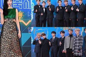Thảm đỏ KBS Gayo Daechukje 2018: BTS, EXO trở thành tâm điểm, Sunmi bị ví như cây thông Noel vì trang phục lạ