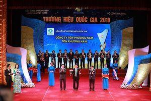 Tôn Phương Nam được trao Thương hiệu quốc gia 2018