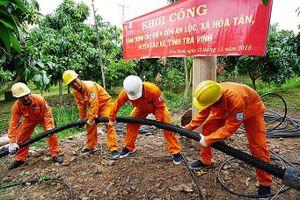 Trà Vinh: Cồn Bần Chát đón điện lưới quốc gia