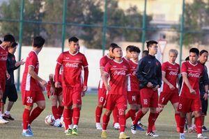 Đội tuyển Việt Nam làm quen mặt sân Qatar