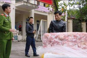 Bắt giữ vụ vận chuyển 2,5 tấn nầm lợn không bảo đảm vệ sinh ATTP