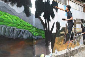 Độc đáo phố bích họa về văn hóa sử thi Đắk Lắk