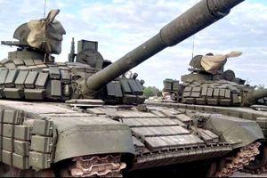 Xe tăng Nga T-72B1MS 'Đại bàng trắng' tham gia cuộc diễu binh ở Lào