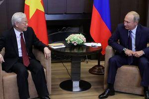 Ông Putin chúc mừng Tổng Bí thư, Chủ tịch nước Nguyễn Phú Trọng