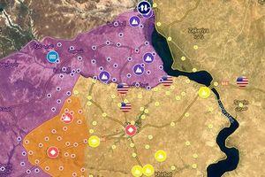 Bản đồ Manbij sau khi SAA và phiến quân huy động đến gần thành phố