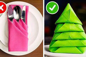 23 cách sáng tạo gấp khăn ăn giúp bữa ăn trở nên hoàn hảo